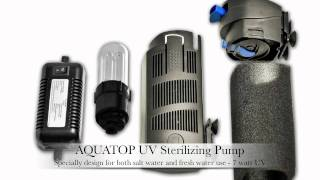 aquatop aquarium internal pump w uv sterilization sp5uv sp7uv