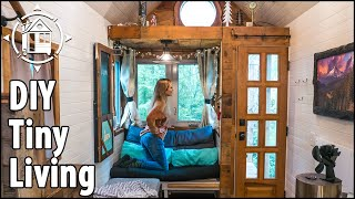 Tiny House Diy: Easy Downstairs Bedroom Solution! 🏡🙌