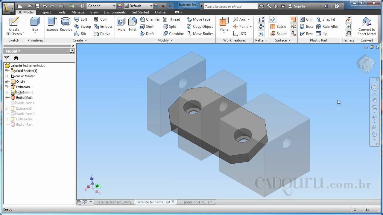 Conhecendo a interface do software curso b sico inventor for Online 3d program