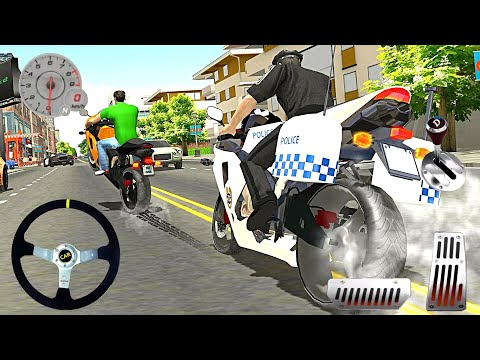Police Bike Racing Free - City Simulator US Gangster Chase Driver - Android Gameplay