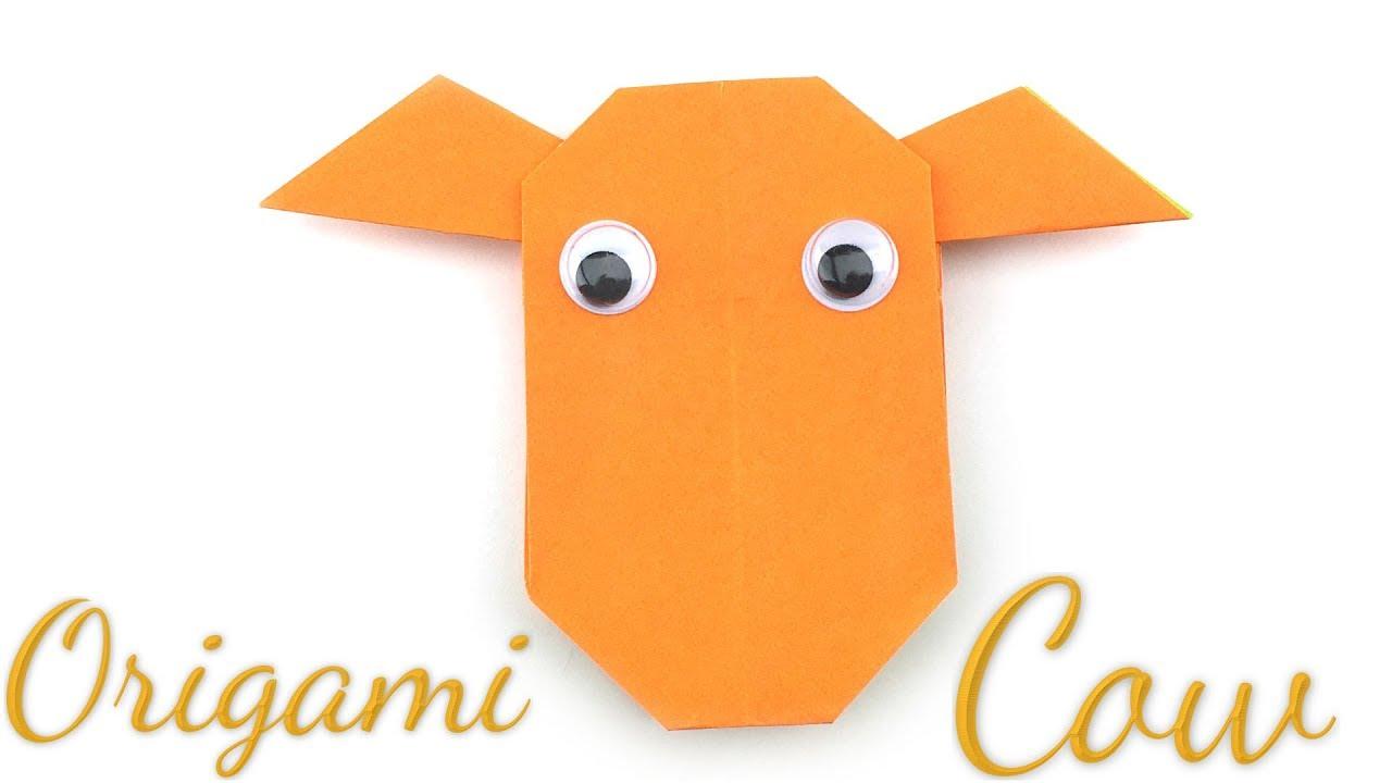 Easy Origami Cow Tutorial Hyo Ahn