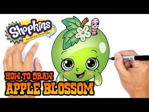 How to Draw Apple Blossom (Shopkins)- Beginner's Art Lesson