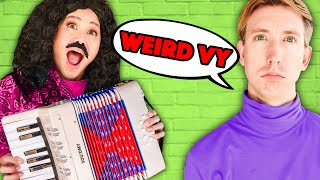 Vy Qwaint Becomes WEIRD AL to Fix Boring Chad! Making a Music Video & DIY Costumes with Regina