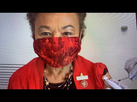 Barbara Lee Oakland California Congresswoman Receives COVID-19 Vaccine