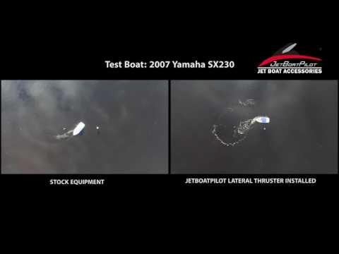 JetBoatPilot Lateral Thruster VS Stock Reverse 2007 Yamaha SX230