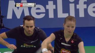 Download Video Yonex Denmark Open 2016 | Badminton F M3-XD | Fis/Ped vs Zheng/Chen MP3 3GP MP4