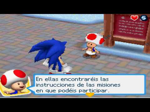 Mario y Sonic en los Juegos Olimpicos de Invierno (Ds) Gameplay Travel Video