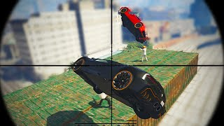 SNIPERS VS STUNTERS (GTA 5 Funny Moments)