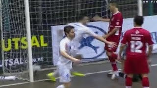 Gols, Blumenau 4 x 4 Sorocaba - Liga de Futsal 06/11/2014