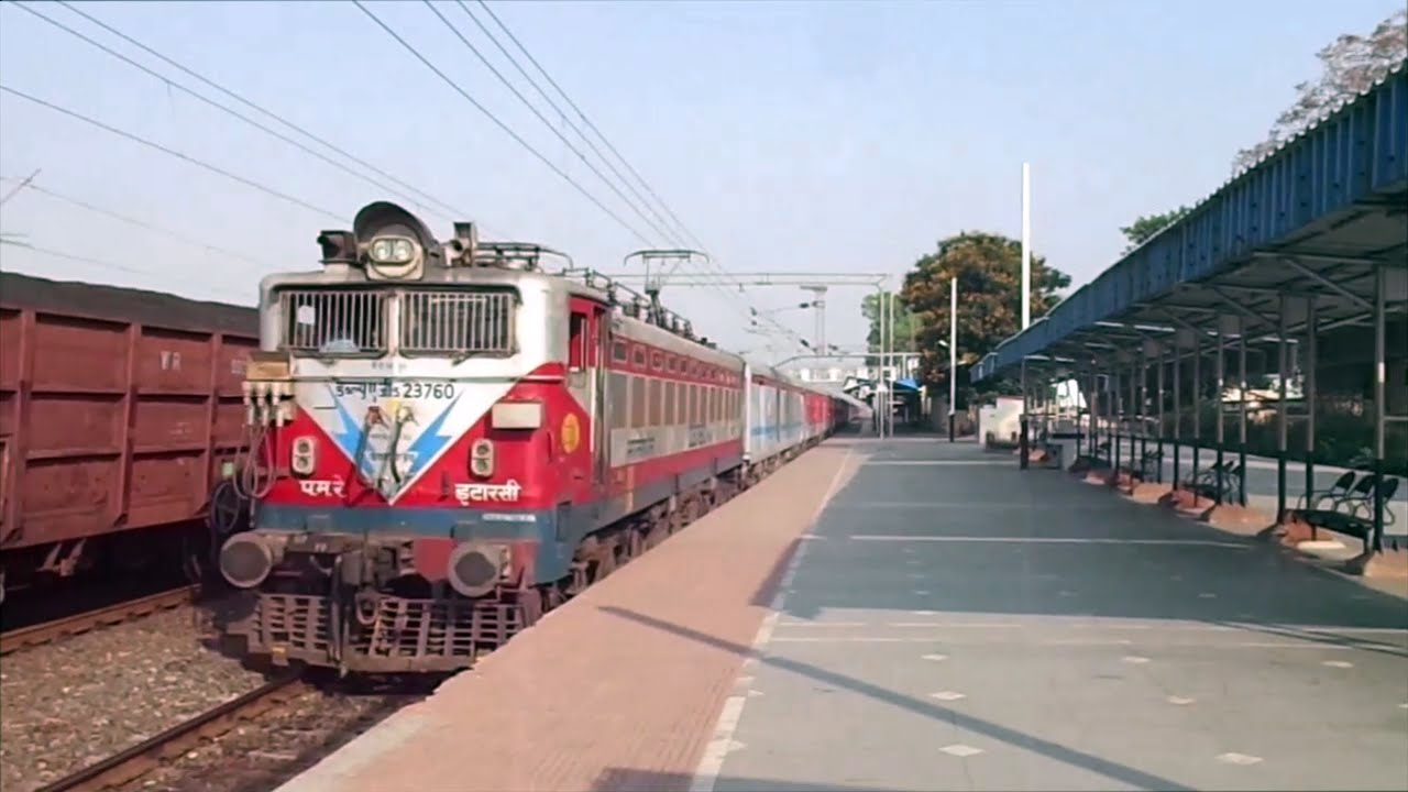 18244 Bhagat Ki Kothi - Bilaspur LHB Express Rushes Past Amgaon