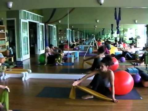 Emily Sabo's Yoga Class 11-22-2014 (Stability ball workout – SHOULDER OPENING, core and hips!!!)