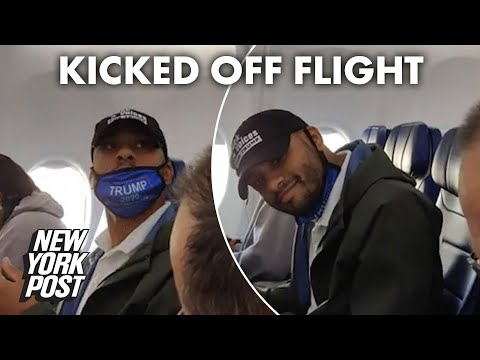 Man-in-Trump-gear-booted-from-Southwest-flight-for-removing-mask-to-eat-New-York-Post