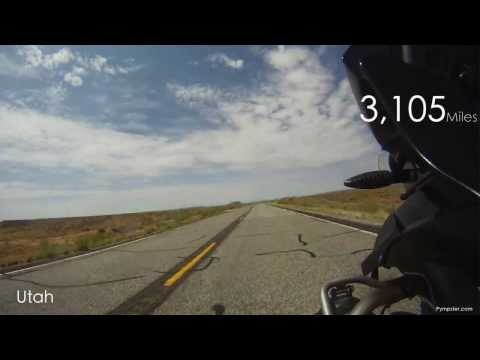 Timelapse UK Motorcycles USA Coast to Coast NYC-LA 2013