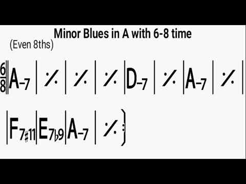 Minor Blues in A 6 8 time