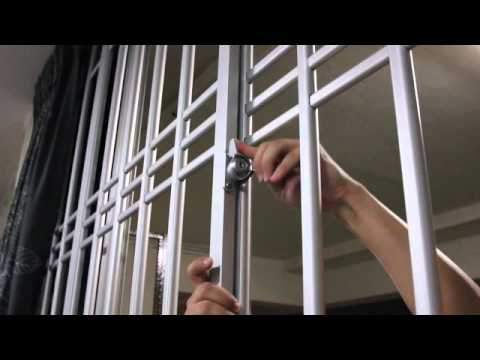 how aluminium window grilles can be open easily   youtube