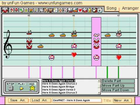Here It Goes Again in Mario Paint Composer