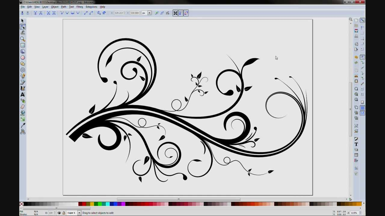 Inkscape Flourish - YouTube
