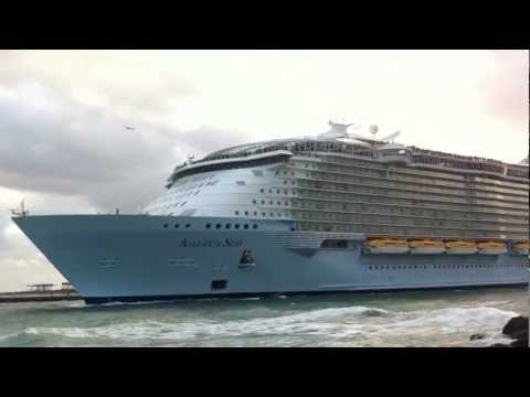 Allure of the Seas leaving Fort Lauderdale