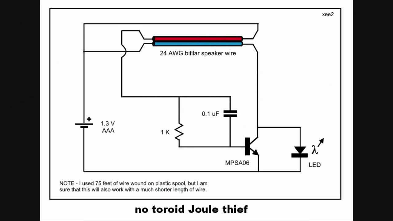 No toroid joule thief youtube ccuart Image collections