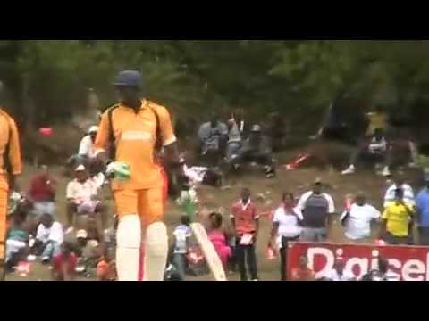 Usain Bolt plays cricket in Jamaica