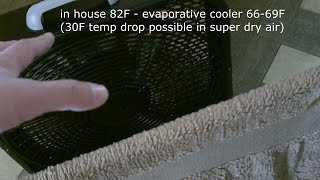 "Homemade Evap. Cooler! - Diy Air Cooler - ""window Box"" Design - (quickview W/full Instr.) 30f Drop"
