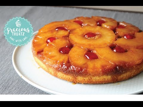 Pineapple Upside Down Butter Cake Easy