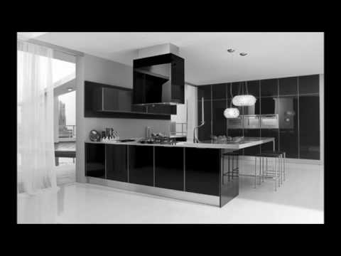 Ultra Modern Black And White Kitchen Decorating Interior