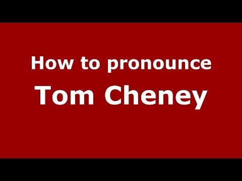 How to pronounce Tom Cheney (American English/US)  - PronounceNames.com