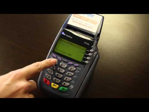 VeriFone Vx510 - Instructions & How To Use Your Credit Card