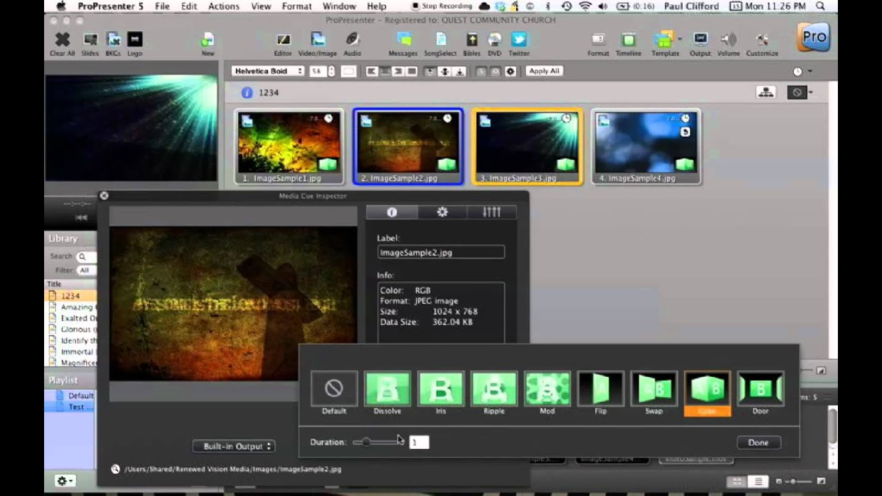 how to stop video from looping in propresenter