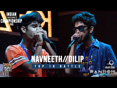 NAVNEETH vs. DILIP   Indian Beatbox Championships 2018 - TOP 16 SOLO BATTLE