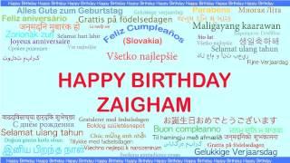 Zaigham   Languages Idiomas - Happy Birthday