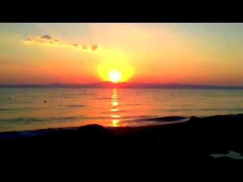 sunrise gose up at morning - Haniotis Halkidiki