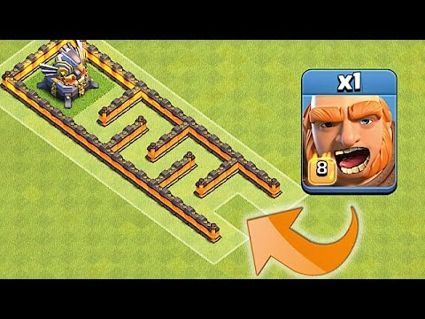 ONE TROOP!! ONE MAZE!!😀EAGLE MAZE RACE😀Clash Of Clans