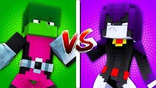 CASA MUTANO vs. CASA RAVENA - Minecraft Casa vs. Casa