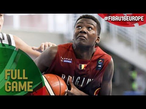 Belgium v Belarus - Full Game - FIBA U16 European Championship 2017 - DIV B