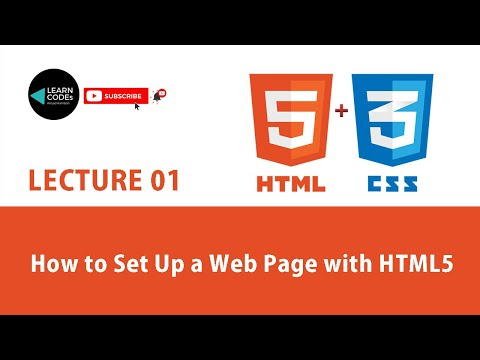 How To Set Up A Web Page With HTML5