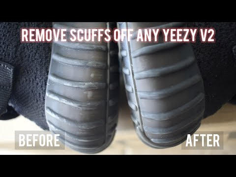 BEST WAY TO REMOVE SCUFFS OFF ANY YEEZY V2 (Using Only Household Items)
