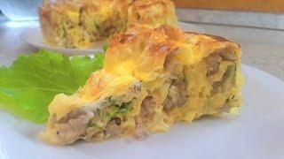 Пирог/рулет из лаваша с фаршем/мясом,рецепт,как приготовить..