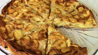 Яблочная влажная шарлотка , рецепт пирога от сестер Симили .