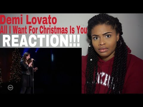 Demi Lovato - All I Want For Christmas Is You //  REACTION!!!