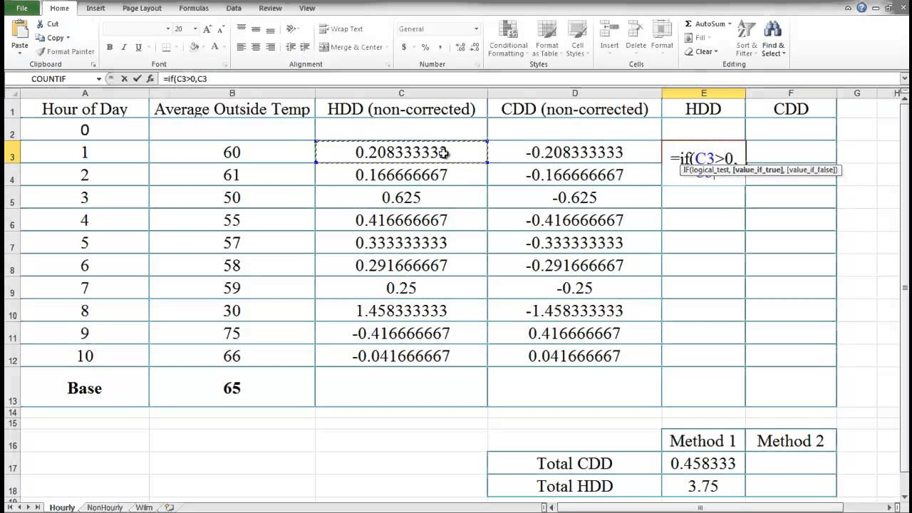 NRG142 Energy Accounting Class Seven Adjusted Baseline Aside Excel ...