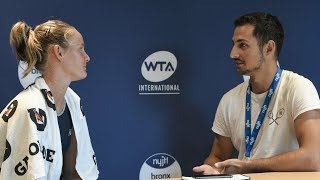 Fiona Ferro Interview and Yonex Day ft. Kyrgios and Bouchard! Bronx Open Vlog Day 3