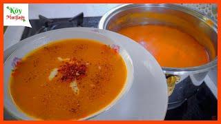 #3 Ramazan Tarifleri   Tam Kıvamında Tam Ölçülü Tarhana Çorbası Tarifi   Emine'nin Köy Mutfağı