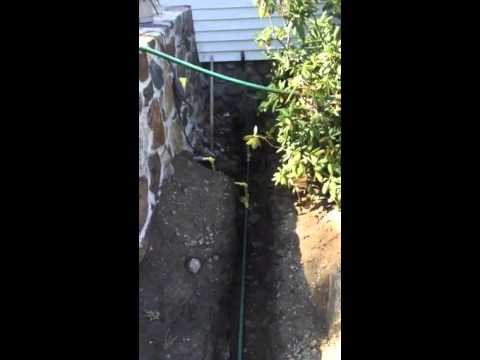 Underground gas line for barbecue and future fire pit in ...