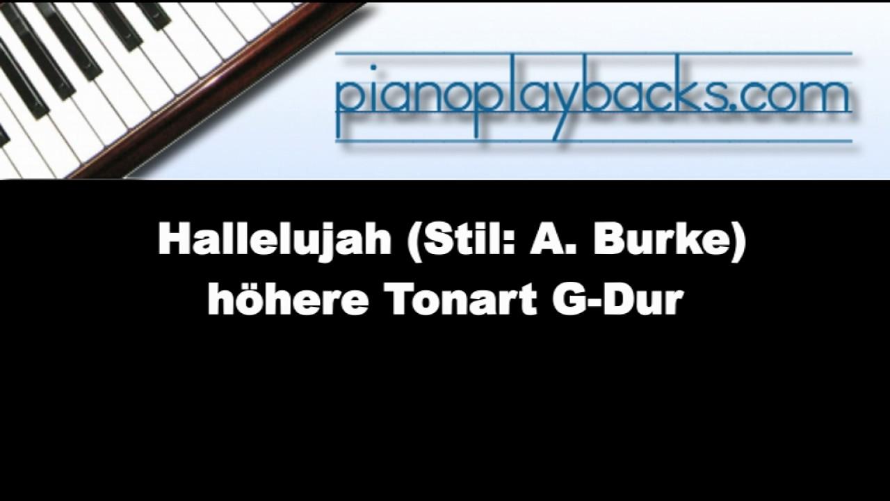 Hallelujah g dur lhen stil a burke playback instrumental hallelujah g dur lhen stil a burke playback instrumental demo hexwebz Choice Image