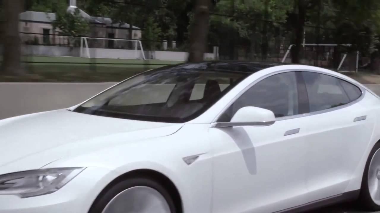 тесла модель s вождение