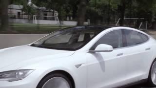 Tesla Model S   Нью Йорк Вождение Видео