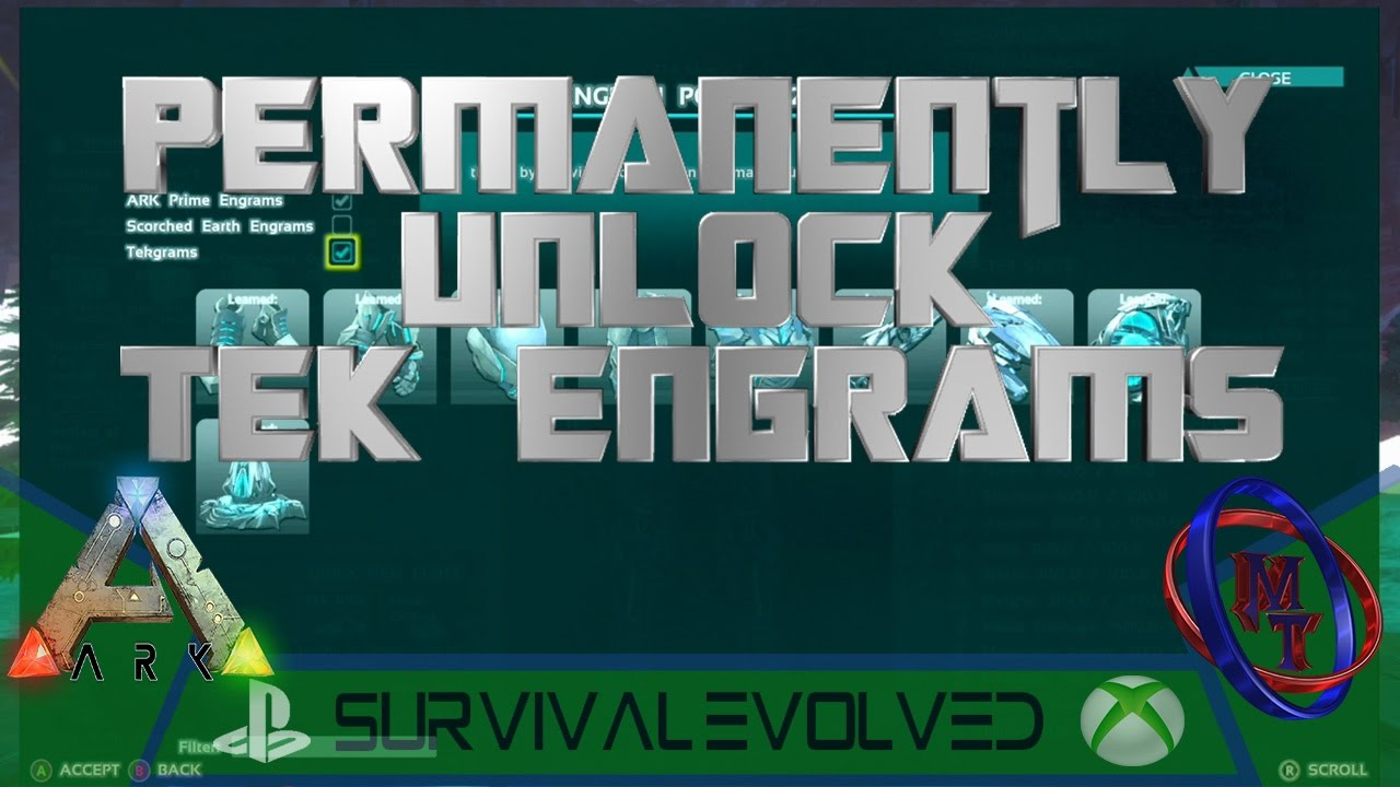Ark xbox ps4 permanently unlock tek engrams youtube ark xbox ps4 permanently unlock tek engrams malvernweather Images
