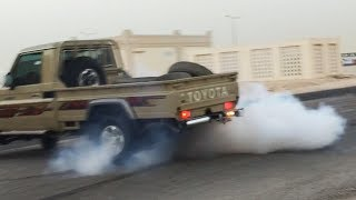 استعراض شاص تيربو - Turbo Land Cruiser Pickup Burnout